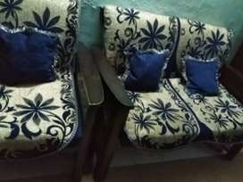4 seater sofa set along with table (with storage capacity)