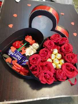 Eid gift double decker heart chocolate box