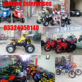 Quality Plus & Gracefully Atv Quad 4 Wheel Bikes Available Stock !