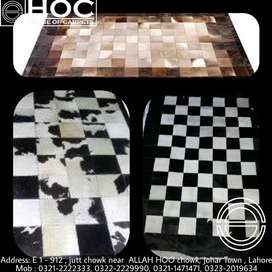 Cow hide , rugs and center pieces