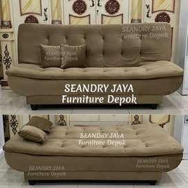 SEANDRY JAYA Furniture Depok/Sofa Bed L minimalis/promo murah/kekinian