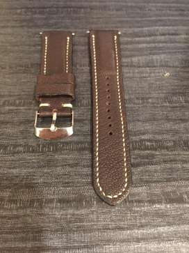 Strap kulit kambing goat dark brown seiko turtle samurai monster sumo