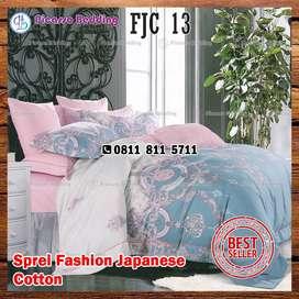 Bedcover Katun Jepang Fashion FJC-13 Siap Kirim Hingga Bojonegoro