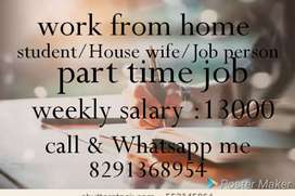 Good hand writing good earning part time job