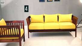 12 Years Warranty Wooden Sofa set for sale on Discounted Price
