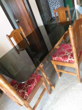 1year old 4 seater dining set .