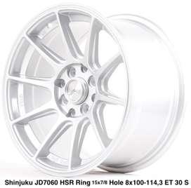 SHINJUKU JD7060 HSR R15X7/8 H8X100-114,3 ET35/30 SILVER