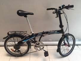"""Sepeda Lipat Element City Folding 20"""" Siap Pakai"""