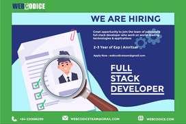 Hiring Full Stack Developer