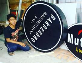 Neon Box Acrylic Neonbox Murah Melayani Seluruh Bali