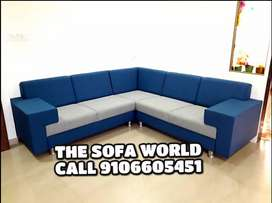 Brand New gray and blue great looking sofa set available
