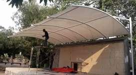 Kami bengkel las nerimah pemasangan kanopi atap membarane dll $$1157