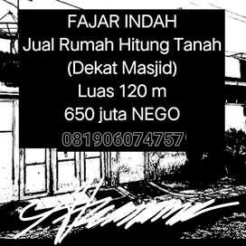 Jual Rumah Hitung Tanah (Dekat Masjid)