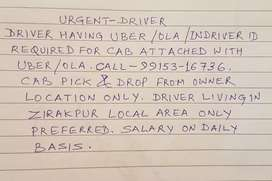 Driver Having ID of Uber and Ola only APLLY