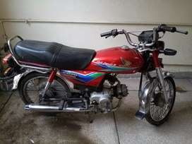 Honda CD 70 color red 2013 model