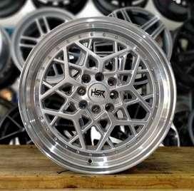Velg HSR MYTH06 R17 Silver Brio RS, Yaris, Swift, Vios, Baleno