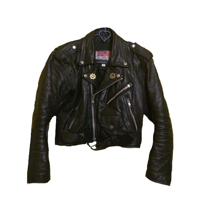 TRIUMPH Leather Jacket 1949 Black USA Size M 100% Original 0