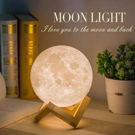 Moon Lamp - Lampu Bulan 15CM 16 warna RGB + Remote