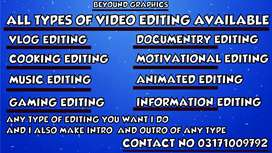Video editing and video editor available