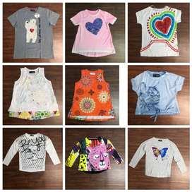 SUMMER EXPORT SURPLUS COLLECTIONS FOR KIDS MODERN TOPS