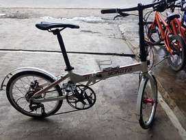 Sepeda lipat yokota 1x8 sped jangkrik keras