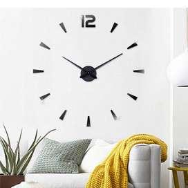 Jam Dinding DIY Giant Wall Clock Quartz Creative Design - DIY-114 - Bl