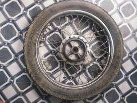 Rx 135,100 rear stock back wheel