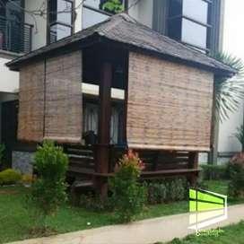 krey bambu atau tirai bambu bahan kiray ukuran 1x2m