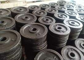 GYM Equipment - 100rs per kg weight , Plates , dumbbell, Bar, Bench