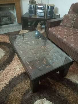 Carved center table size 47/28 available