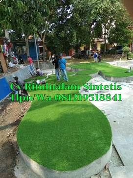 Rumput sintetis taman jepang 3.5cm high backing green