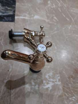 Water taps  golden pair