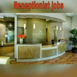 Urgent opening for receptionist front office post
