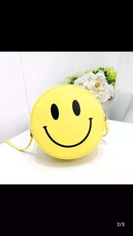 smile face Sling bag