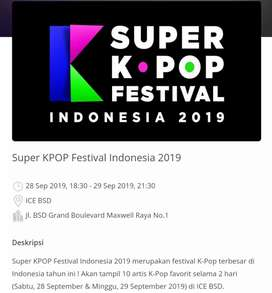Tiket Super KPOP Festival ICE BSD 28-29 September 2019