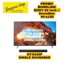 SONY LED TV ANDROID 4K 65 inch KD-65X85J Bundling with soundbar