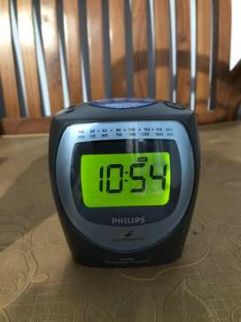 Jam Weker Alarm Radio Philips antik