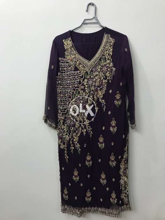 Purple Color Party Dress 0