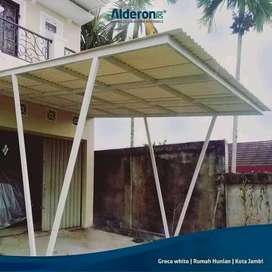 @82 canopy minimalis rangka tunggal atapnya alderon pvc bikin nyaman