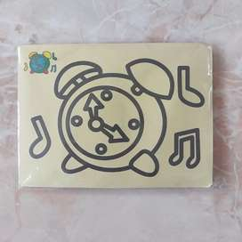 Mainan anak diy mewarna dengan pasir warna / sand painting stiker