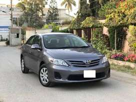 toyota corolla axio 2012 on munthly in stallment