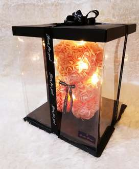 Bear Flowers with LED Lights in exclusive box