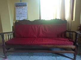 Sofa set 3+1+1 Padauk with Cushion