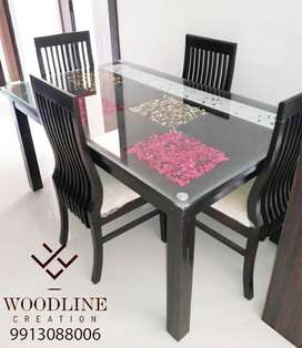 Doppler Luxurious Dining Table with Chair WDC-1030