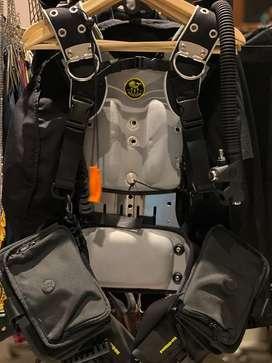Poseidon One Wing & Harness BCD + Steel Backplate + Weight Pockets