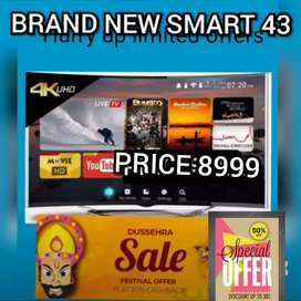 BRAND NEW SMART 43 INCH LED TV FULL HD QLED WITH 2 YEAR WARRANTY