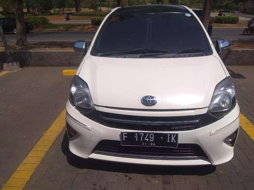 DP 10 Toyota Agya TRD Sportivo AT Automatic 2014 Putih Rawatan 0