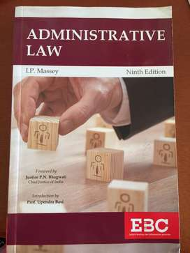 Administrative Law, a very needed book for law students
