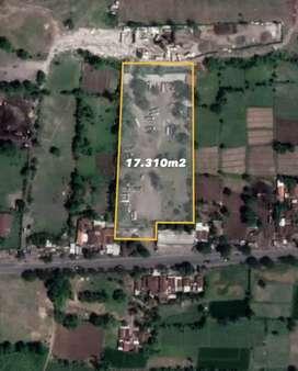 Tanah 1,73ha SHM Jalan Raya Pasuruan Probolinggo,Nguling,Jawa Timur