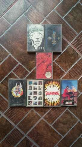 Kaset Pita Musik Hard Rock Band Scorpions Winger Bon Jovi